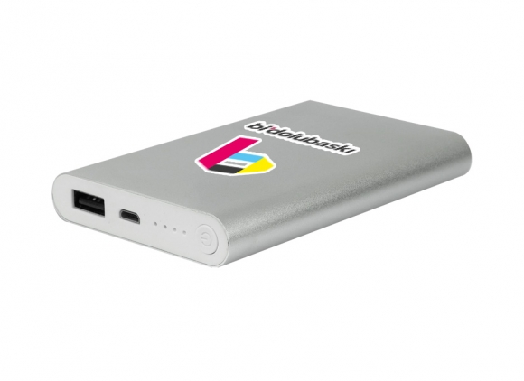 Metal Powerbank - 8000 mAh gri cmyk